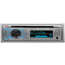Boss Marine Single Din Silver Color Boat Radio Stereo Receiver CD MP3 USB SD