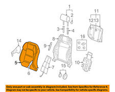 AUDI OEM 09-13 A3 Front Seat-Cushion Cover-Top Back Right 8P0881806BRP92