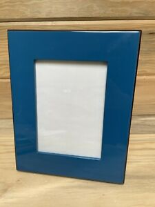 """Pottery Barn Picture Frame 5"""" x 7"""" Blue Lacquer Home Decor"""