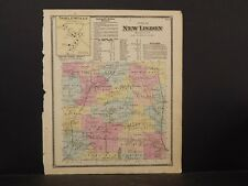 New York Otsego County Map 1868 Town of New Lisbon N4#83