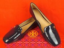 ca04af0f4e0dd Tory Burch Navy Patent Leather Samantha Gold Reva Smoking Flats Loafers 8