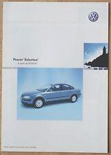 Rare Catalogue Volkswagen Passat 'Selection' - France - Janvier 2003 - 6p