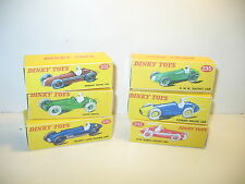 n75,  lot 6 boites vides repro DINKY, 23H, 23C, 231, 232, 230, 235 racing car