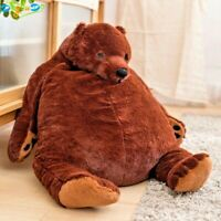 100cm Giant Simulation Soft Plush Bear Toy Brown Teddy Stuffed Animal Toys NEW