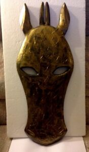 "African Giraffe Jungle Mask Africa Decor Wall Hanging 20 1/2"" tall"