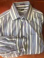 Paul Smith Made In Italy Striped Dress Shirt 18 45