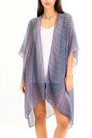 Hippie Geometric Boho Sleeveless Kimono Cardigan See-Through Cover Up Blouse