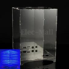 Transparent Acrylic Board Housing For 8x8x8 3D Light Cube MP3 Music Spectrum Kit