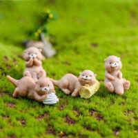 cute otter Garden Decoration Micro Landscape Ornament Fairy Miniature Cr SE
