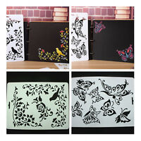 Brids Butterfly Plastic Bookmark Ruler Drawing Board Painting Stencil Template