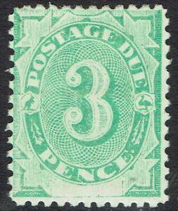 AUSTRALIA 1902 POSTAGE DUE 3D BLANK BASE WMK INVERTED