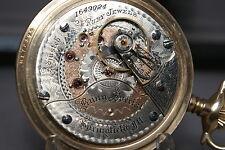 1902 2-TONE COLOR RARE BUNN SPECIAL POCKET WATCH, 21J, 18s,GF RR Case, RUNS GOOD