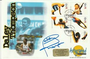 9 JULY 1996 OLYMPIC GAMES FDC HAND SIGNED BY DALEY THOMPSON SHS a
