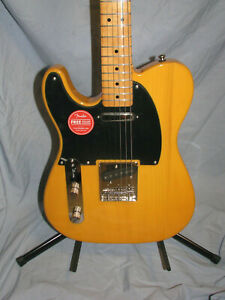 Left Handed 2019 Squier Classic Vibe 50's Telecaster Guitar Butterscotch Blonde