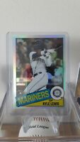 2020 Topps Chrome Kyle Lewis RC Rookie 1985 35th Anniversary Refractor