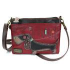 Chala Handbags-Burgundy Red Wiener dog Cross-body Phone Purse