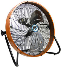 Shroud Floor Fan 20 In. 3-Speed Orange Housing High Velocity Home Shop Job Site
