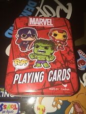 Marvel Playing Cards Collectible Tin Pop Spiderman Hulk Iron Man Funko Poker