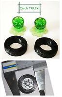 # 1/43 SET 2 GOMME E CERCHI TRILEX ANTERIORI 23 mm (x FIAT 643, 690) RESINA 3D #