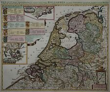 Niederlande -New York -Belgii pars Septentrionalis - Rare Karte - P. Schenk 1700