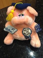 Vintage Emotions Pink Fat Pig Piggy Best In Klass Graduation Plush Stuffed