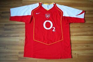 XXL ARSENAL LONDON 2004-2005 HOME FOOTBALL SOCCER SHIRT JERSEY NIKE ERA HENRY