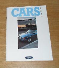 Ford Fiesta Folleto 1987 XR2 1.4S Escort XR3I Orion Sierra GLS Granada Scorpio