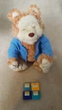 Vintage TJ Bearytales Animated Talking Bear Interactive with 4 Cartridges