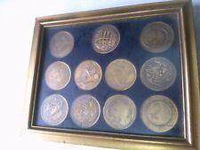 NASA Apollo Manned Space Flight Series 11 Bronze Medal Set Framed