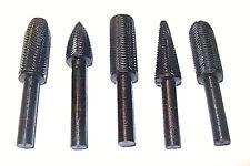 5pc CALHAWK ALLOY STEEL RASP FILE BURRS 1/4 SHANK METAL