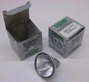 Ushio 1000439 Reflekto Halogen MR16 Lamp 12V 50W, Front Glass EXZ/S/FG, Lot of 2