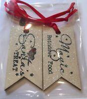 Santa's Treat  Magic Reindeer Food Christmas Eve Tradition Real Wood Tags