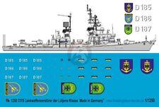 Peddinghaus 1/1250 Lutjens class German Destroyer Markings (3 versions) 3315