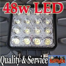 LED Driving Work Reversing Lights 6000K 48W Bright White Kit 12V 24V Flood Spot