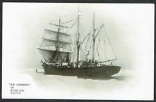 More details for 1907-09 british antarctic expedition postcard s.y.nimrod in floe ice very fine