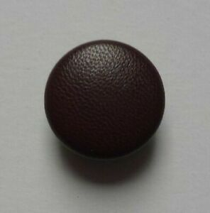Nähstübl Leather Button Chocolate Brown With Real Leather Covered