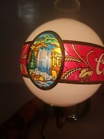 Adolph Coors Company Beer Globe Waterfall Bar Sign Light Electric Wall Mounted