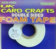 1mm White Foam Tape Double Sided Sticky CRAFTS Pads. Shaker Card Tape