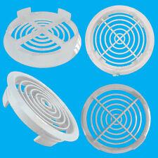 100x White Vivarium Reptile Push Fit Round Air Vents 80mm 70mm Hole, Ventilation