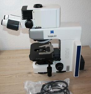 Zeiss Axioskop Axio Scope.A1 Mikroskop Microscope + Ergo Trinokulartubus