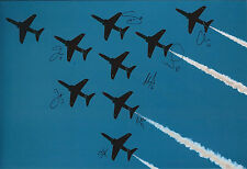 RAF Red ARROWS Multi (8) Signed 12x8 Photo Autograph COA AFTAL Display Team