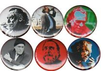 Charles Bukowski: Set of 6 Buttons-Pins-Badges