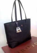 NEW OROTON Bag Handbag Melanie Tote Shoulder Saffiano Leather Black RRP$495