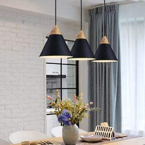 3X Black Pendant Light Kitchen Ceiling Lamp Room Lights Bar Chandelier Lighting