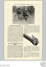 1905 PAPER AD Article Curtiss Motorcycle Side Car Carriage Sidecar