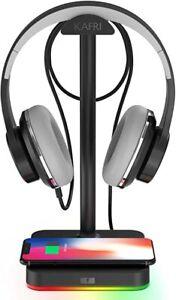 RGB Headphone Stand with USB Hub KAFRI Desk Gaming Headset Holder Hanger Rack wi