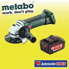"Metabo 18V 125mm(5"") Cordless Angle Grinder With 5.2Ah Li-ion Battery - W18LTX"