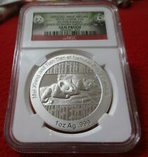 Official Medal 2014 China 1oz Silver Panda Smithsonian  NGC Gem Proof   #T4238