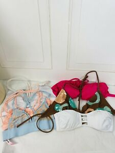 Lot Of 6 Victoria's Secret Bralettes & Swim Tops Sz Small NWOT & Preowned