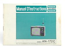 Vintage Panasonic Television Operating Instructions Model AN-172C Bilingual K191